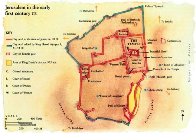 Jewish Temple Map